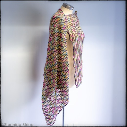 Rippling shawl photo by @wpknits taken by @stunningstring