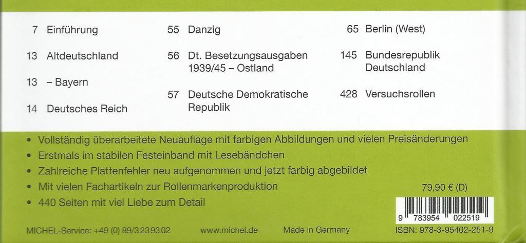 Rolzegels Duitsland achterzijde