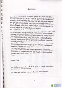FV TEG Festschrift 40 Jahre TEG 33 WZ