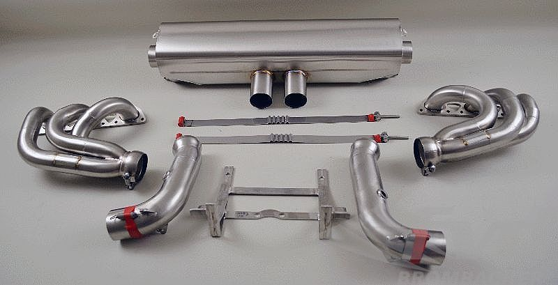 exhaust system race 996 gt3 cup m m