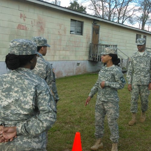 Cadets at training exercise.