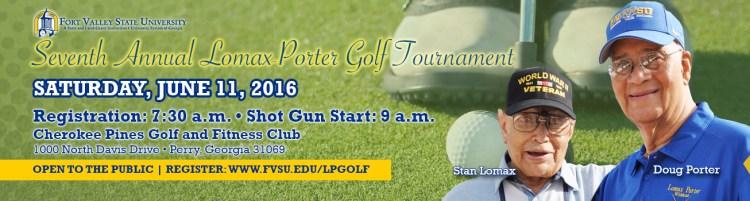 Porter Lomax Golf Banner
