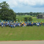 FVSU employees get ready to release balloons to mark 120th Anniversary.