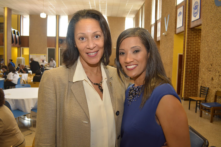 Dr. Marcie Hunt Harris (right) and Dr. Berlethia Pitts (left).
