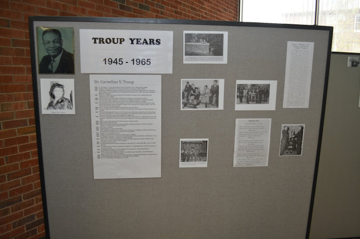 Presidential display at the 120th anniversary in Hunt Memorial Library.