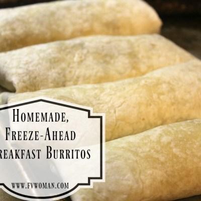 Homemade, Freeze-Ahead Breakfast Burritos