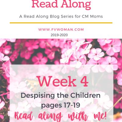 Despising the Children Charlotte Mason Home Education Read Along Week 4