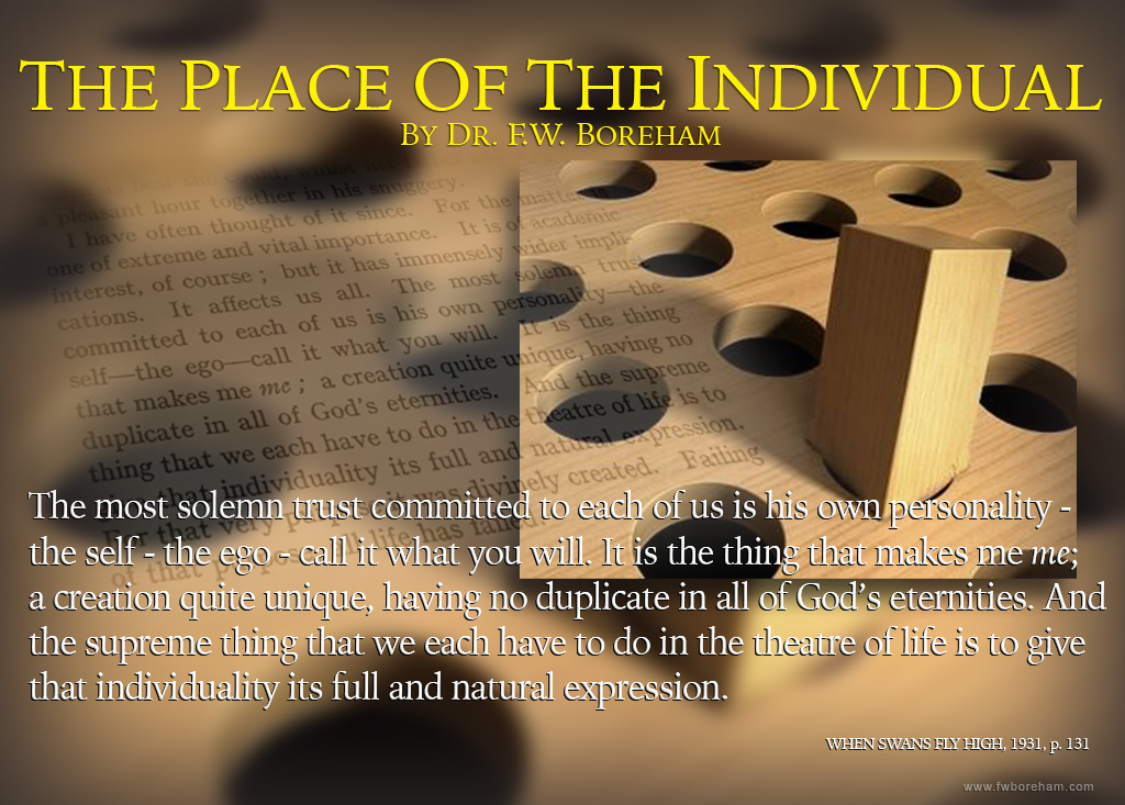FWB on the place of the Individual