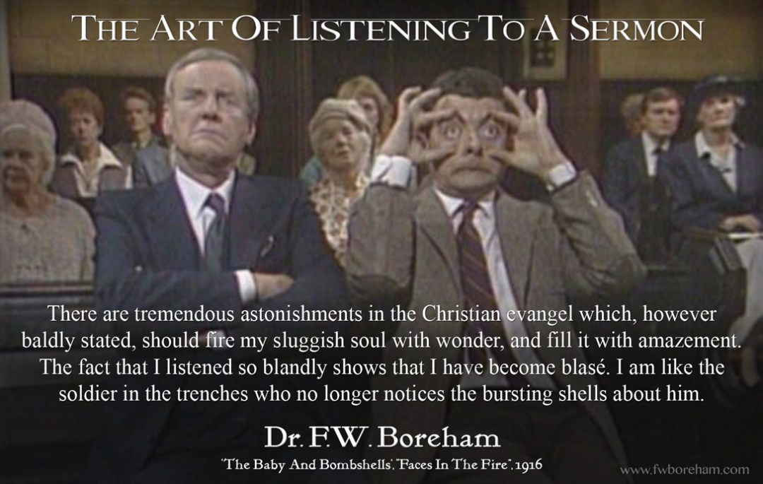 The Art of Listening To A Sermon