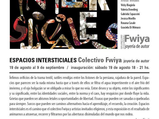 """Espacios Intersticiales"", exposición de Fwiya e invitados inaugura en agosto"