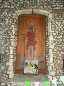 Painting of St Christopher