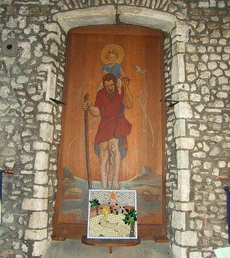 Painting  of  St. Christopher
