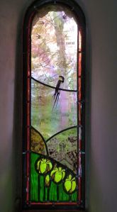 Creation 5a stained glass window
