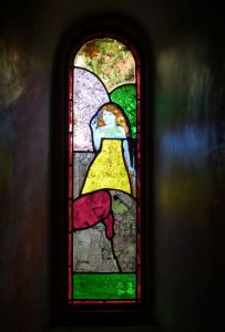 Creation 9a stained glass window
