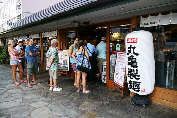 丸亀製麺のハワイ店
