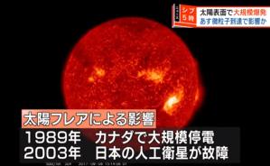 本日15:00より過去11年で最強の太陽フレアが地球に到達。1859年には太陽嵐で電信用の鉄塔が火花を発し、電報用紙が自然発火したらしい。