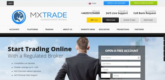 mxtrade official website main page