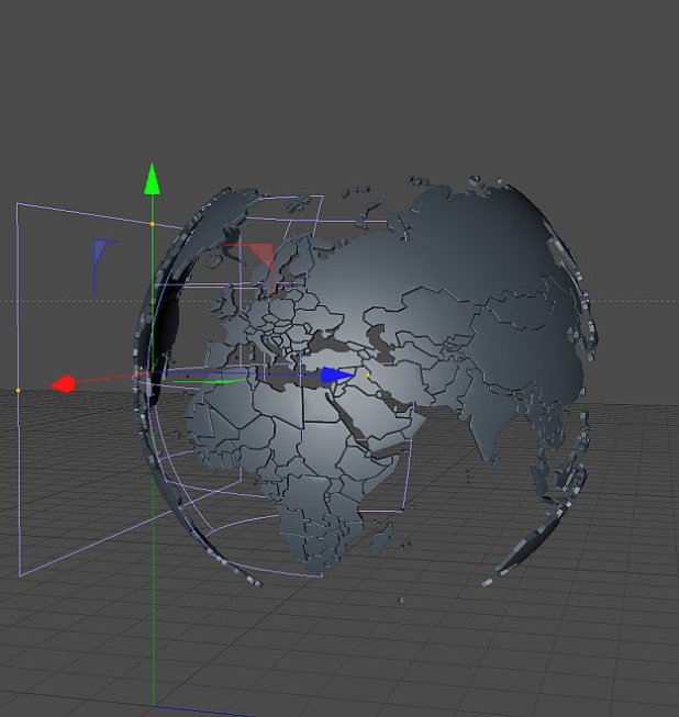 How to create a globe3d world in cinema 4d fxfx digital now create a sphere and align it inside your world map gumiabroncs Gallery