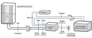 Luxor CUBE and Relay Wiring Diagrams | FX Luminaire