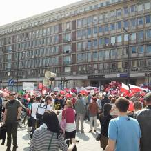 Images of on of the manifestations in Varsovia