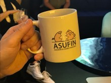 """ASUFIN motto: """"They have the money, but we have the right"""""""