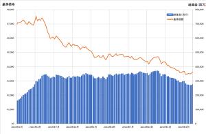 トルコリラ建て投信の基準価格推移
