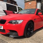 Bmw M3 Red Matte Wrap London