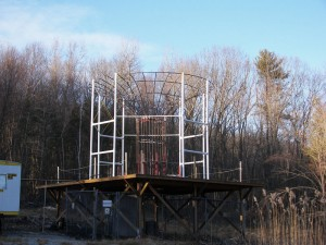 The cross-field antenna at the WGFP site