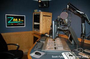 A WPOZ production studio