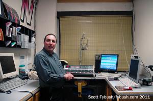 Derek in the KMIN studio