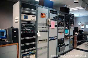 WFIU's rack room