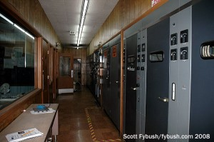 A view down the transmitter hall