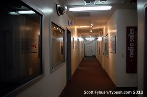 The KFMB radio hallway