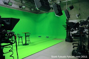 WIPB's green-screen studio