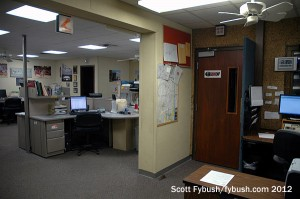 The WJBC newsroom
