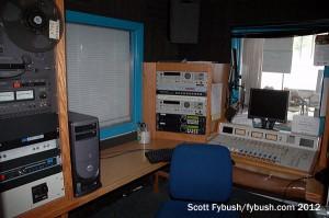 A WQLN radio studio...