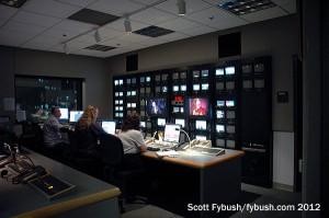TV control room at KPBS