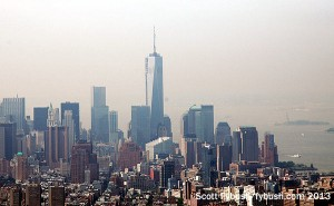 A view south to 1WTC