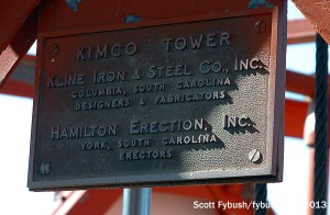 The KTHI/KVLY tower nameplate