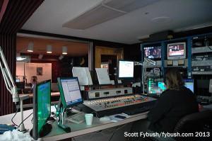 AM studio and control room