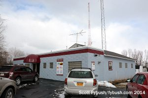 WGVA's building, front...