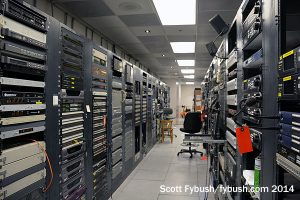 KQED-TV rack room