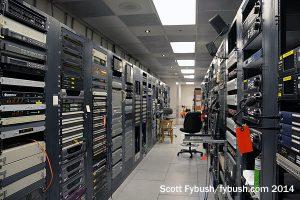 KQED-TV rack room