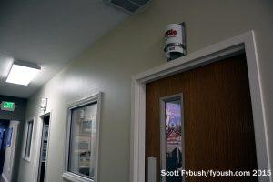 WRSW studio hallway