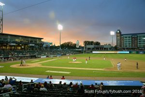 ...out at the Fisher Cats