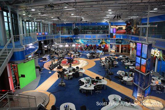 WFXT's newsroom/studio