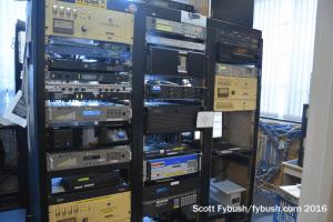 Racks behind the WILQ studio