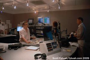 WDRV's studio, 2009