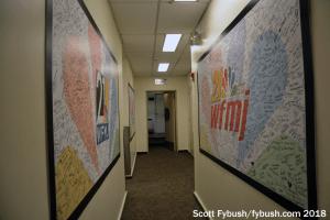 WFMJ's studio hallway