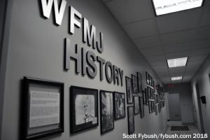 WFMJ's history wall